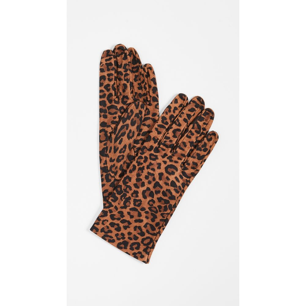 キャロライナアマート Carolina Amato レディース 手袋・グローブ【Leopard Print Gloves】Camel