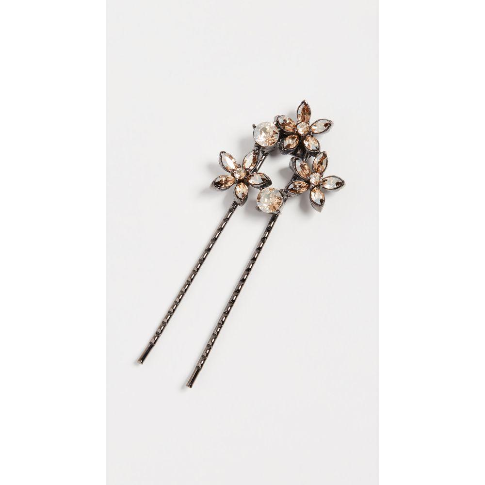 オスカー デ ラ レンタ Oscar de la Renta レディース ヘアアクセサリー【Crystal Star Hair Pin】Cry Gold Shadow