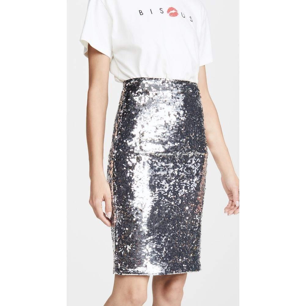 アリス アンド オリビア alice + olivia レディース ひざ丈スカート スカート【Ramos Sequin Skirt】Silver