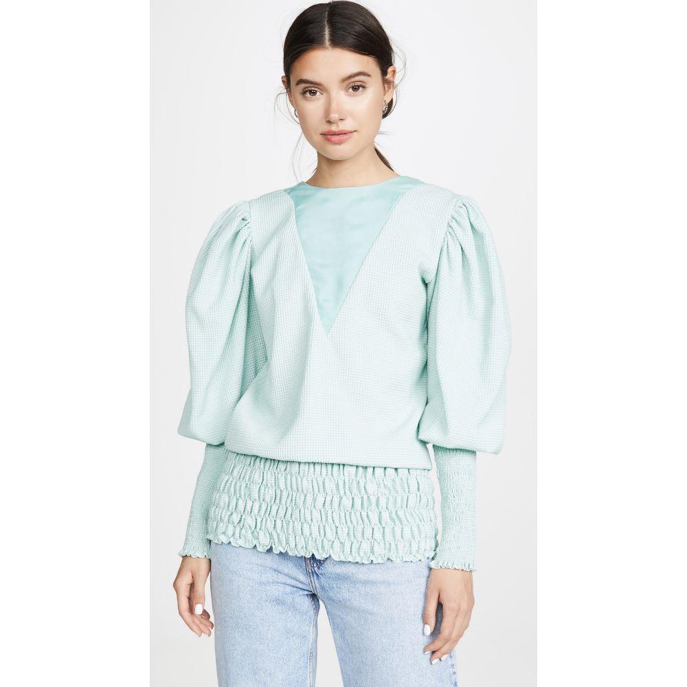エヌ デュオ N DUO レディース ブラウス・シャツ トップス【Puff Sleeve Blouse】Mint Green
