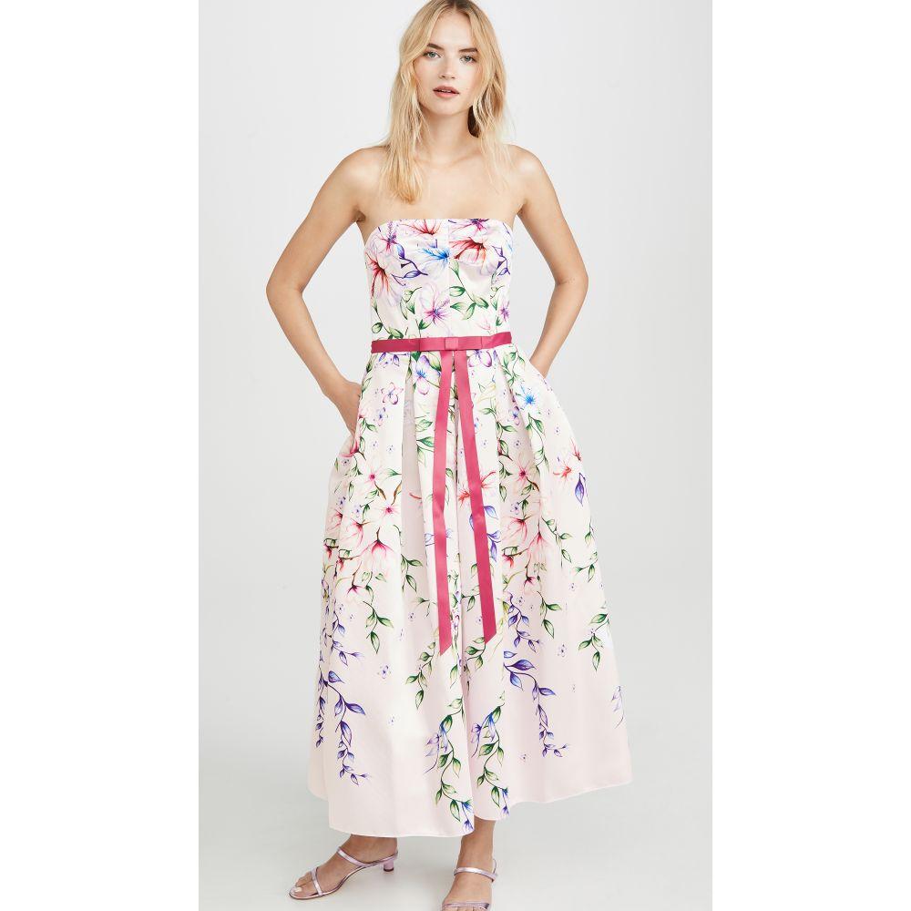 ノッテ バイ マルケッサ Marchesa Notte レディース ワンピース ワンピース・ドレス【Strapless Printed Mikado Corseted Gown】Blush