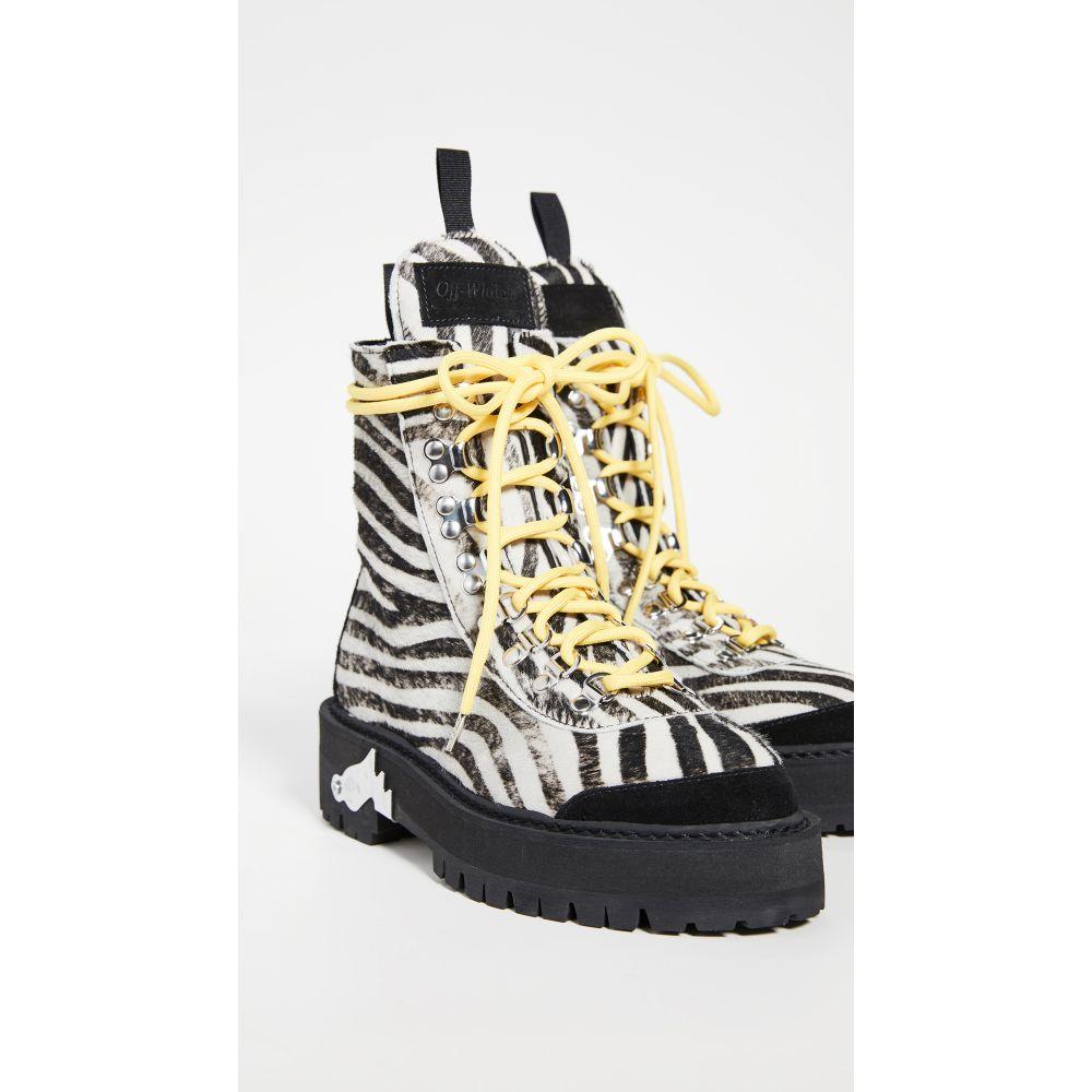 オフ-ホワイト レディース ハイキング・登山 シューズ・靴 【サイズ交換無料】 オフ-ホワイト Off-White レディース ハイキング・登山 ブーツ シューズ・靴【Hiking Boots】All Over Black/White