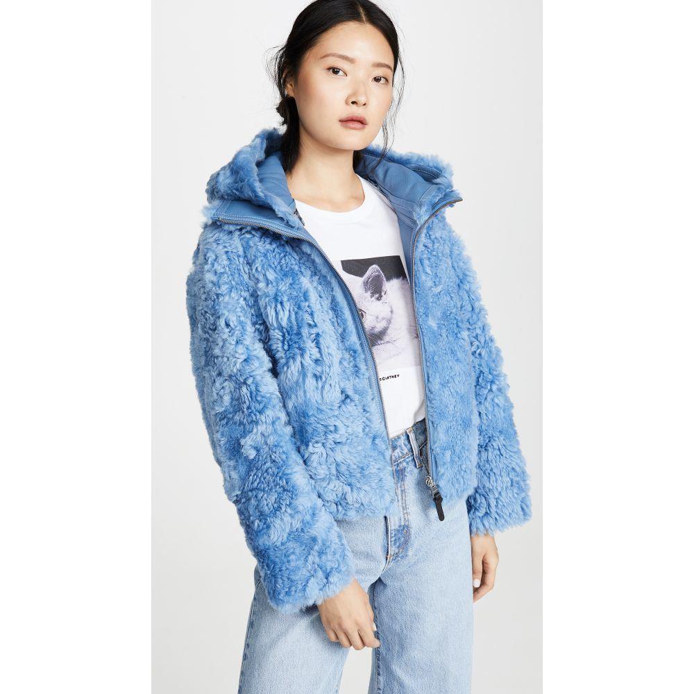 マッカージュ Mackage レディース レザージャケット アウター【reversible zinnia jacket】Cobalt