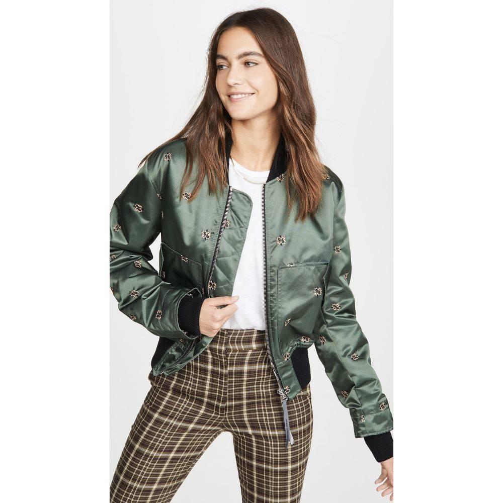 メゾン キツネ Maison Kitsune レディース ブルゾン ミリタリージャケット アウター【bomber jacket】Khaki