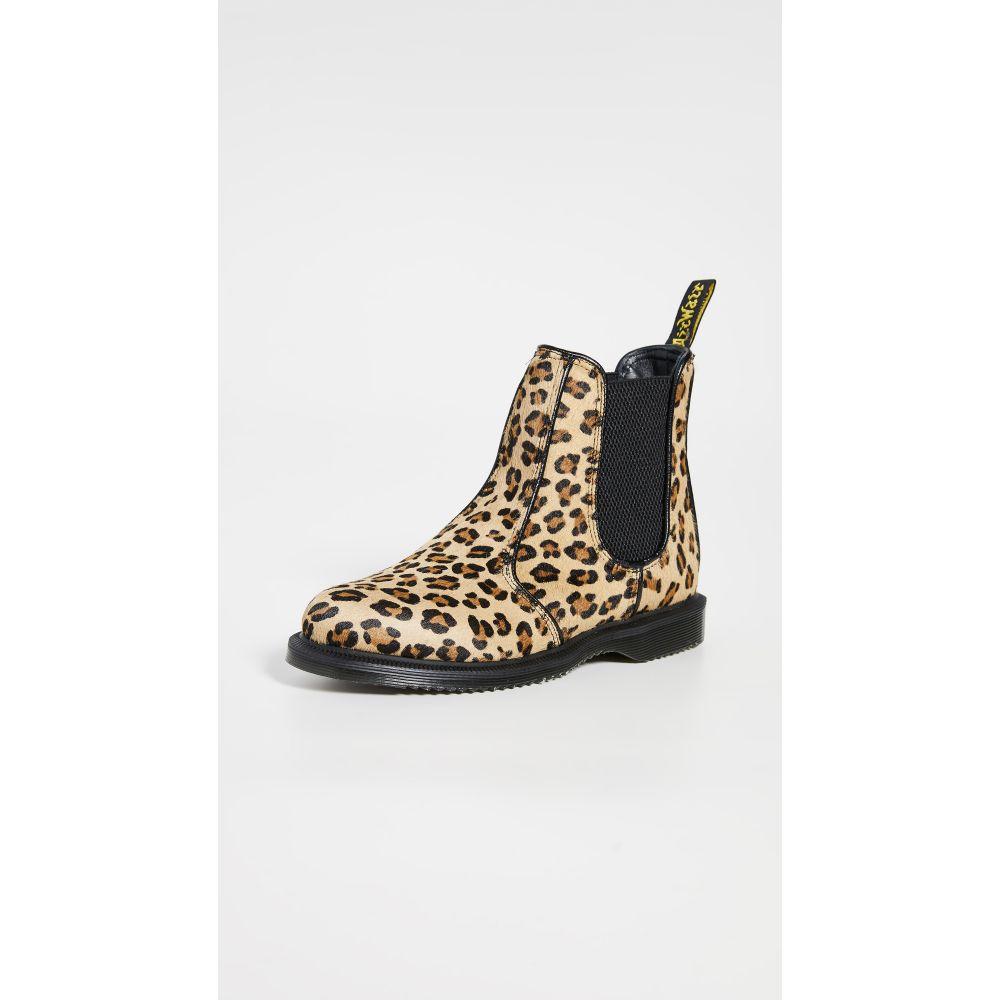 ドクターマーチン Dr. Martens レディース ブーツ チェルシーブーツ シューズ・靴【flora hair on chelsea boots】Medium Leopard