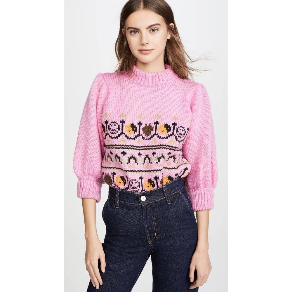 ガニー GANNI レディース ニット・セーター トップス【hand knit wool sweater】Multicolor