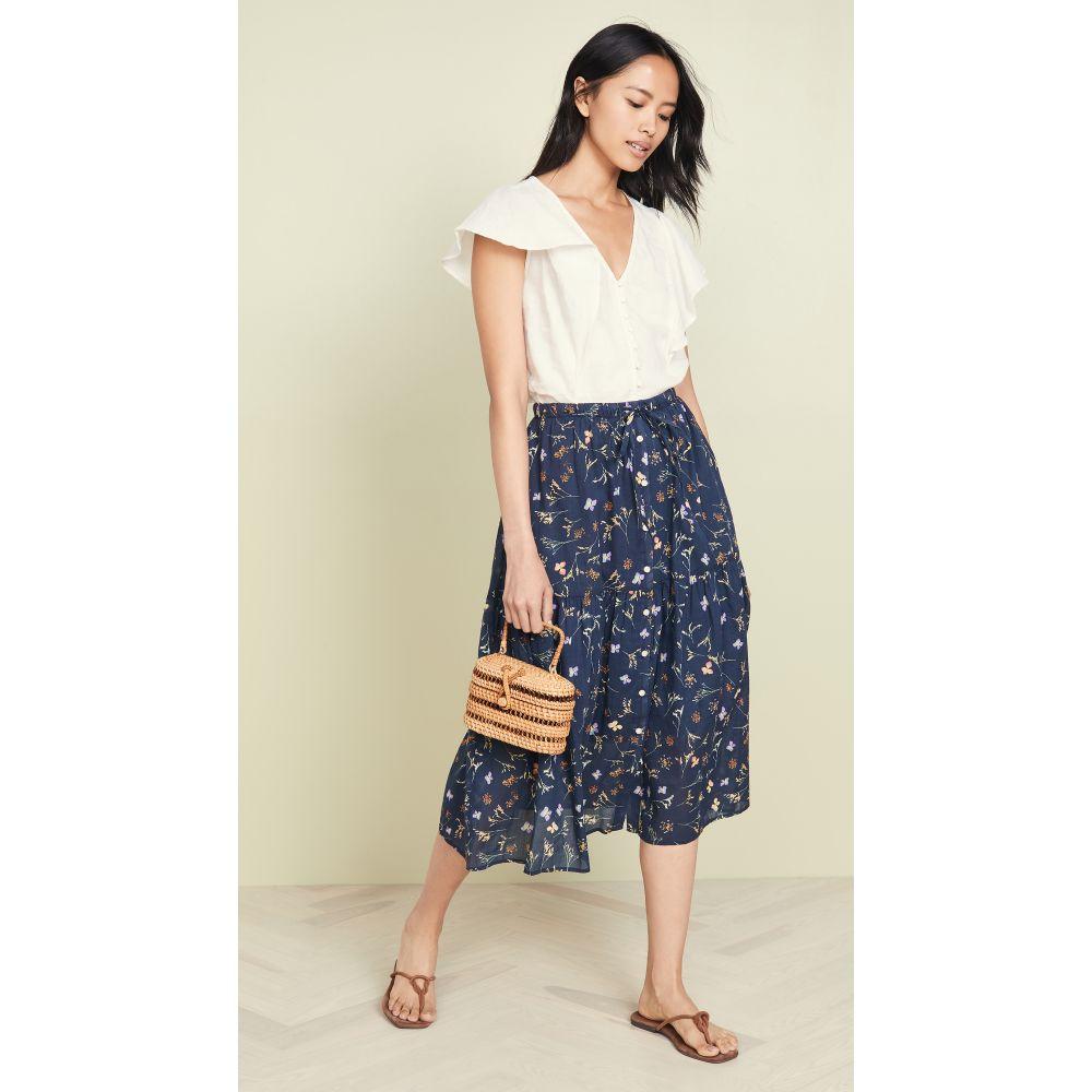 バーズ オブ パラディス Birds of Paradis レディース スカート 【sunny drawstring skirt】Navy Floral