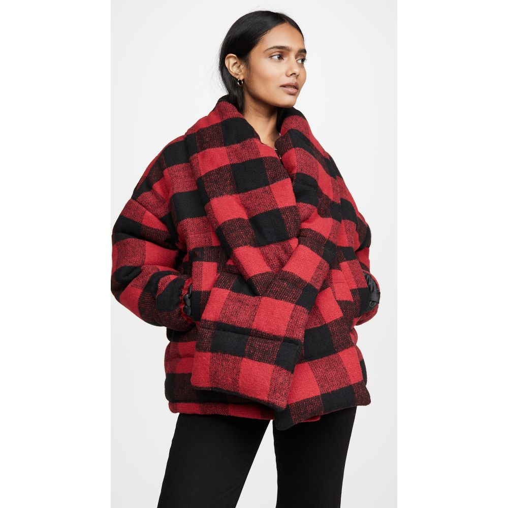 アパリス Apparis レディース コート アウター【Alana Coat With Detachable Scarf】Red Plaid