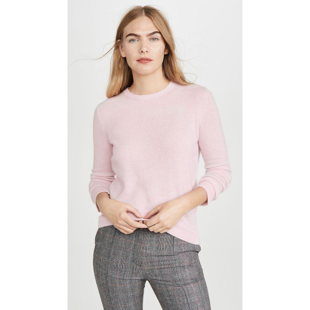 セオリー Theory レディース ニット・セーター トップス【Crew Neck Cashmere Pullover】Pale Pink