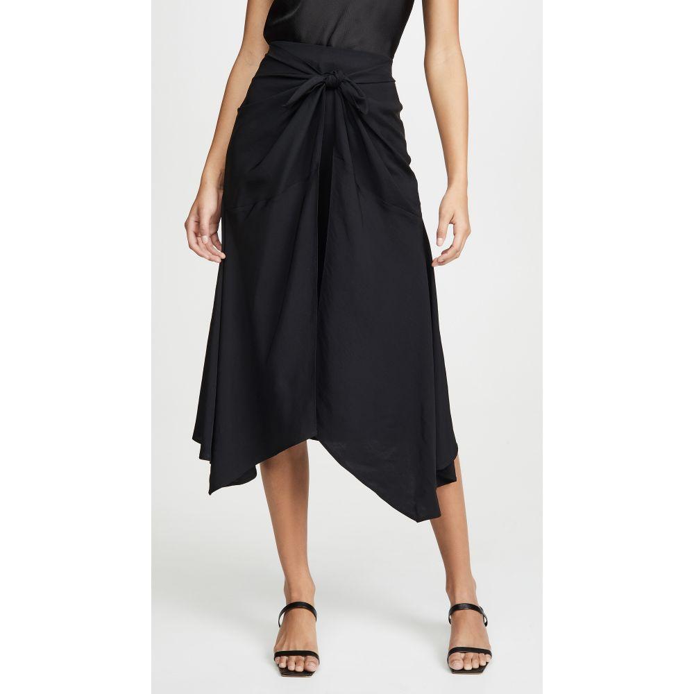 ヴィンス Vince レディース スカート 【Tie Front Asymmetric Skirt】Dark Coastal