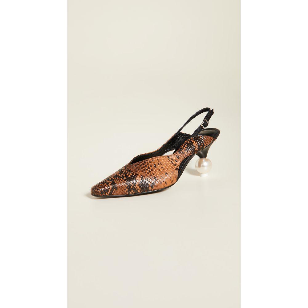 ユルイエ Yuul Yie レディース ヒール シューズ・靴【Doreen Slingbacks】Camel Python/Black