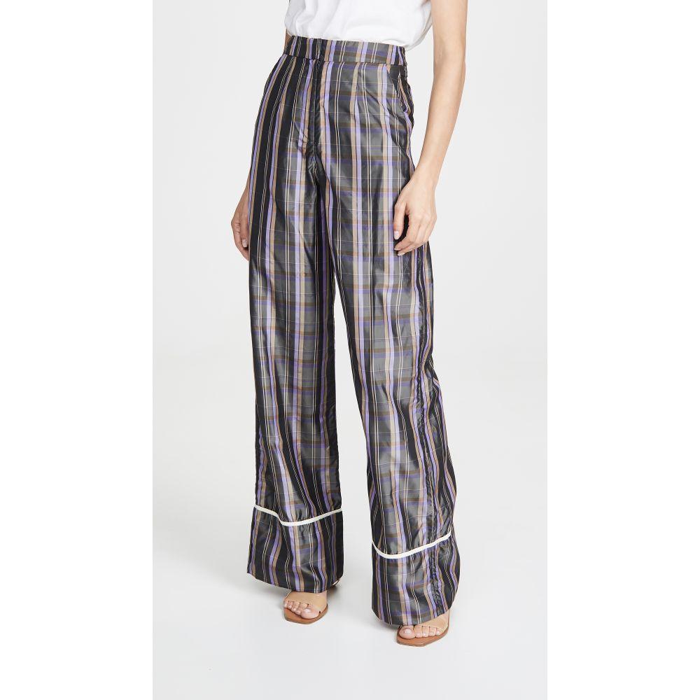 エヌ デュオ N DUO レディース ボトムス・パンツ 【Striped Long Weekend Pants】Grey Plaid