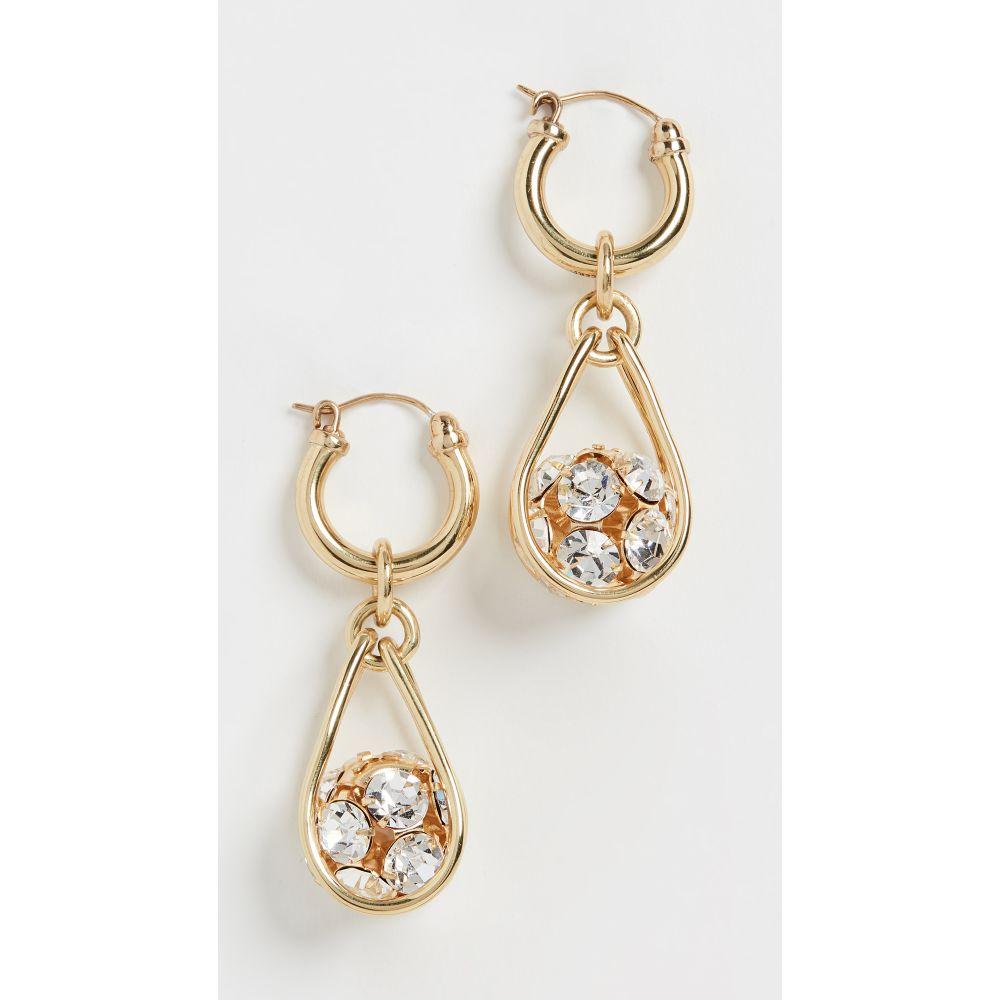 エラリー Ellery レディース イヤリング・ピアス ジュエリー・アクセサリー【B Side Pave Ball Earrings】Gold