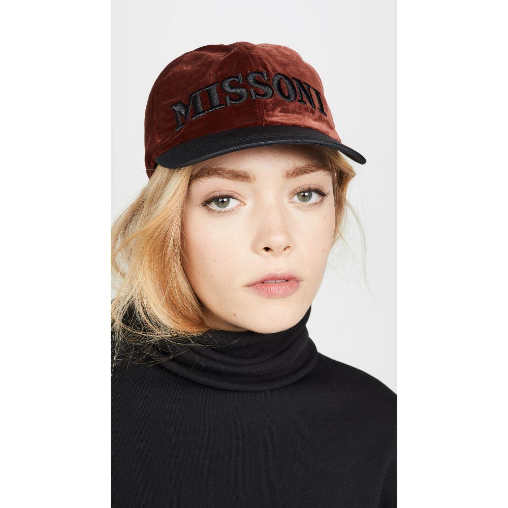 ミッソーニ Missoni レディース キャップ ベースボールキャップ 帽子【Baseball Cap】Brown
