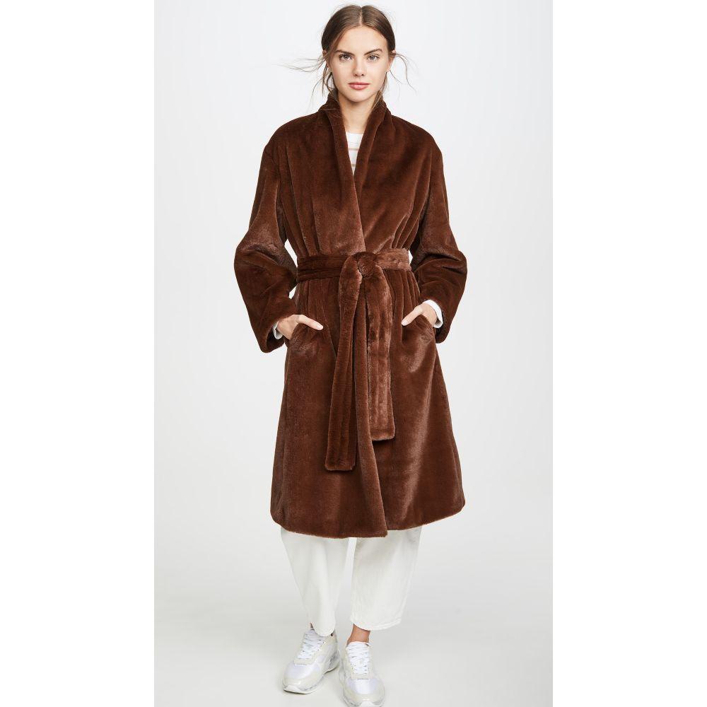 ヴィンス Vince レディース コート アウター【Long Plush Coat】Mahogany