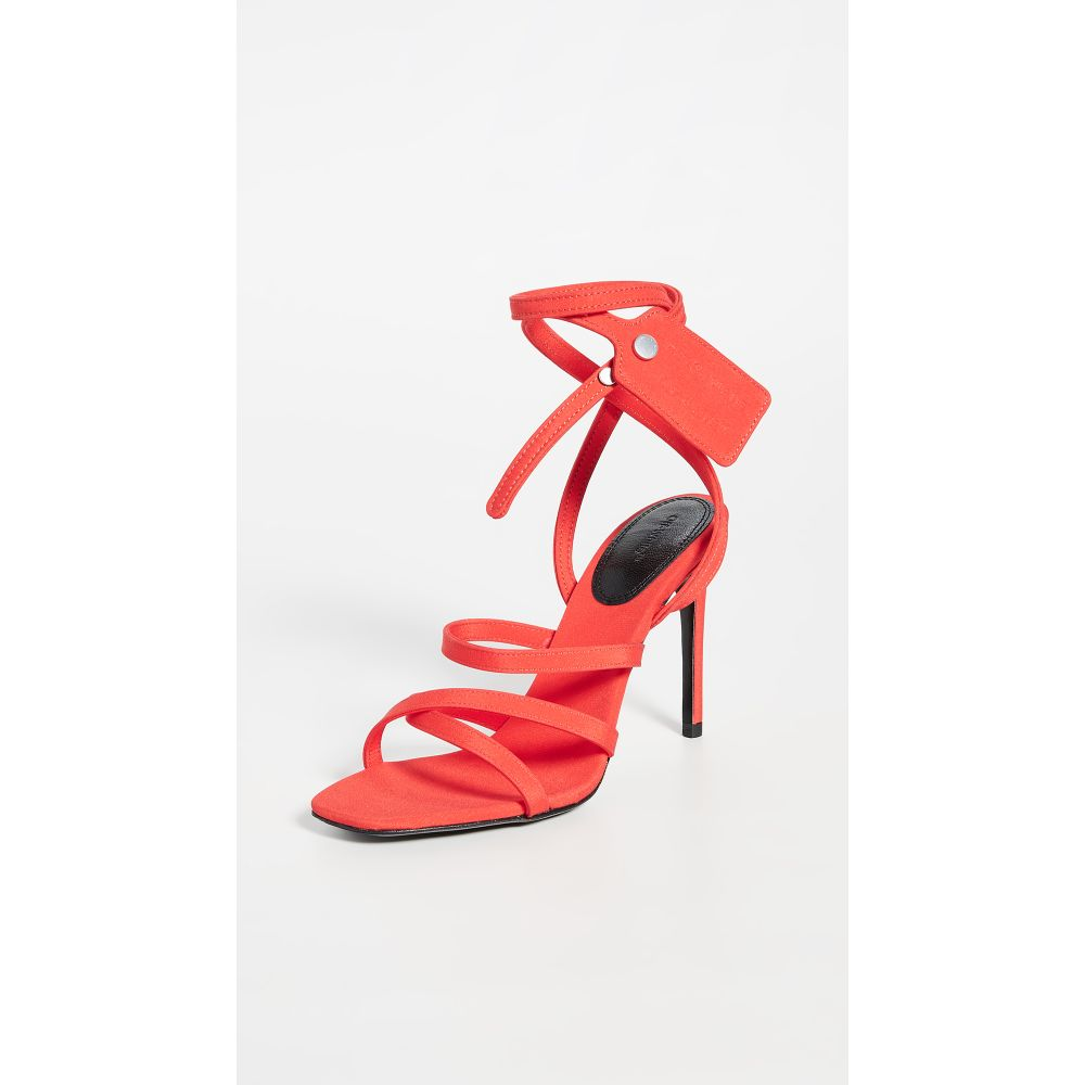 オフホワイト Off-White レディース サンダル・ミュール シューズ・靴【Satin Ziptie Sandals】Orange
