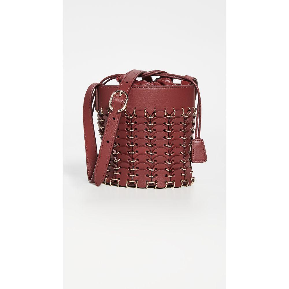 パコラバンヌ Paco Rabanne レディース バッグ バケットバッグ【Mini Iconic Bucket Bag】Oxblood