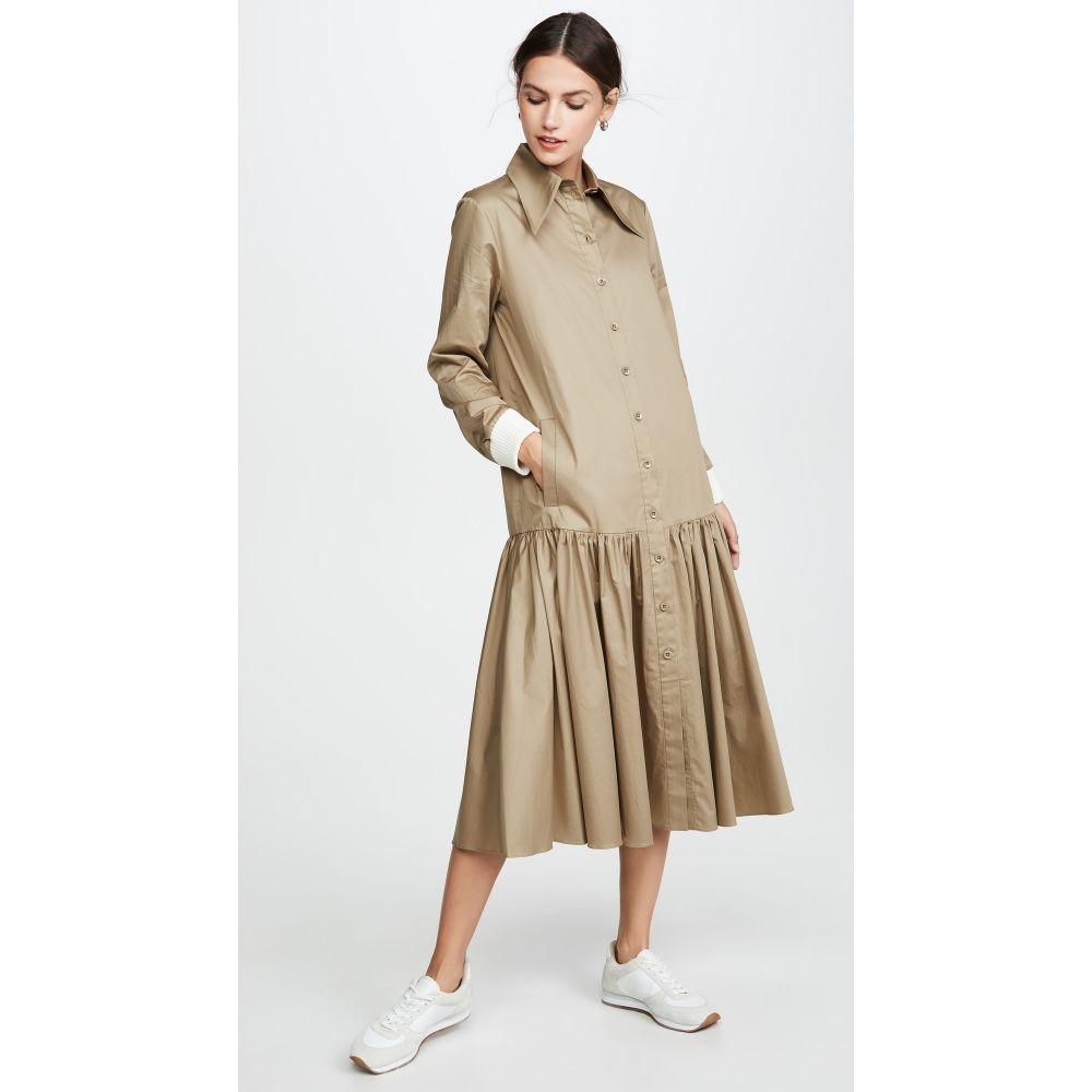 ティビ Tibi レディース ワンピース ワンピース・ドレス【Shirtdress】Oatmeal