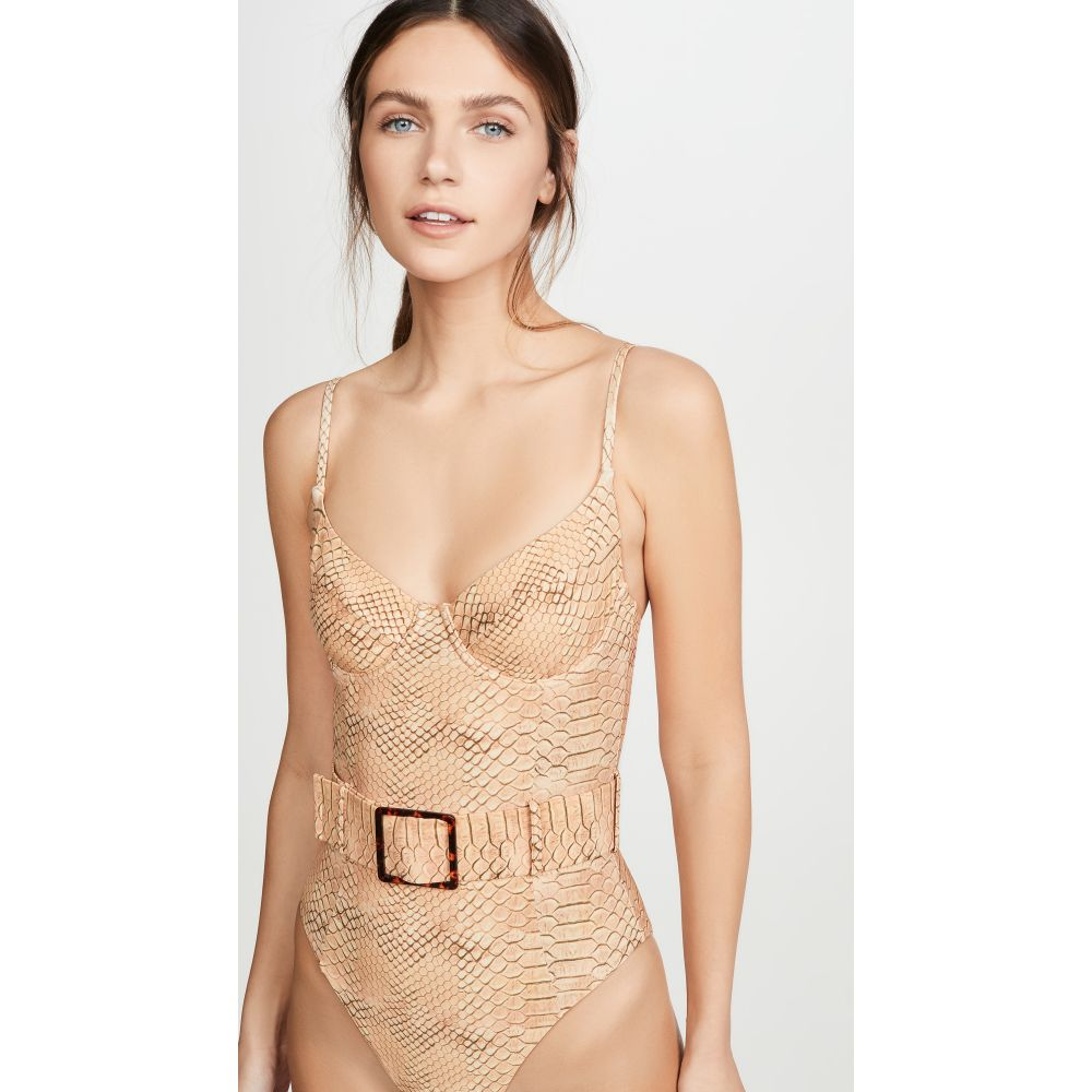 WeWoreWhat レディース ワンピース 水着・ビーチウェア【Danielle One Piece】Snake Skin Print