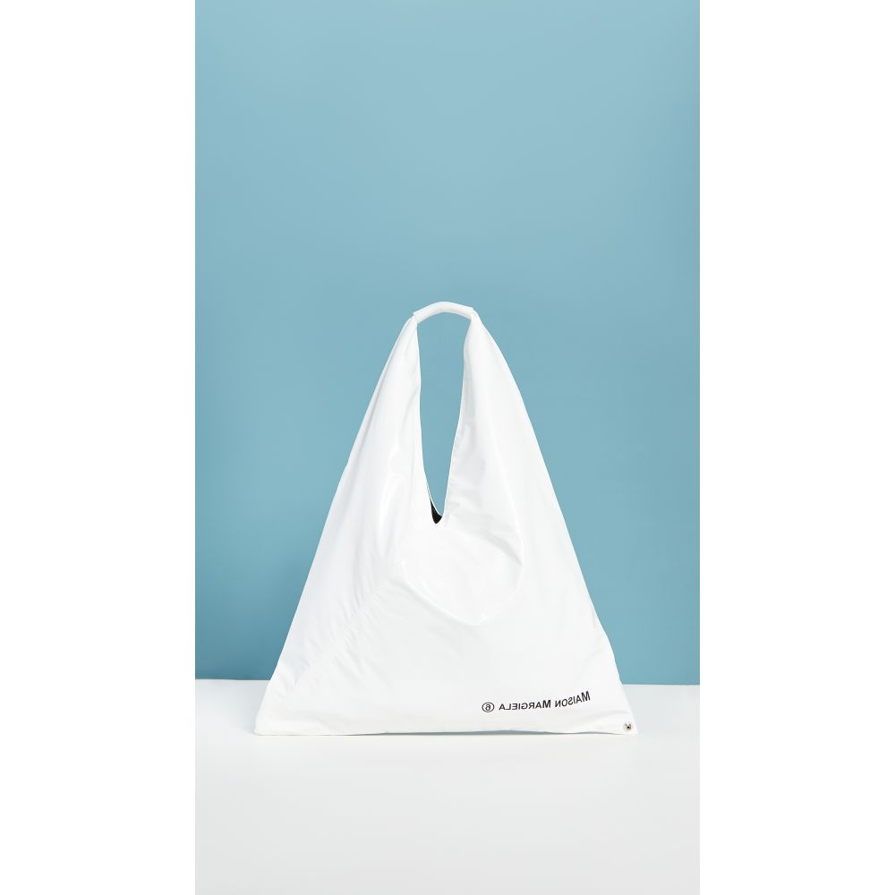 メゾン マルジェラ MM6 Maison Margiela レディース トートバッグ バッグ【Large Triangle Tote】White