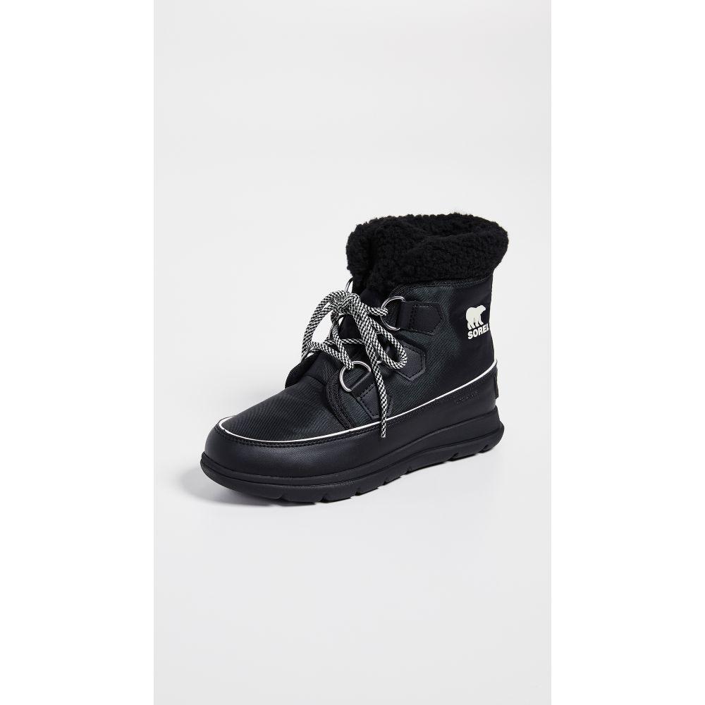 ソレル Sorel レディース ブーツ シューズ・靴【Explorer Carnival Boots】Black/Sea Salt