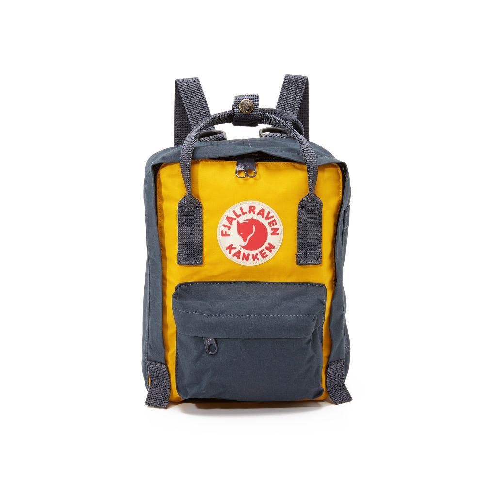 フェールラーベン Fjallraven レディース バックパック・リュック カンケン バッグ【Kanken Mini Backpack】Navy/Warm Yellow