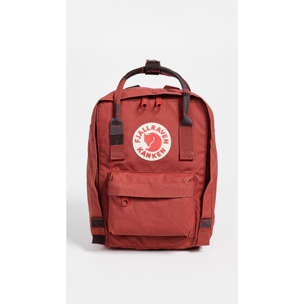 フェールラーベン Fjallraven レディース バックパック・リュック カンケン バッグ【Kanken Mini Backpack】Deep Red/Random Blocked