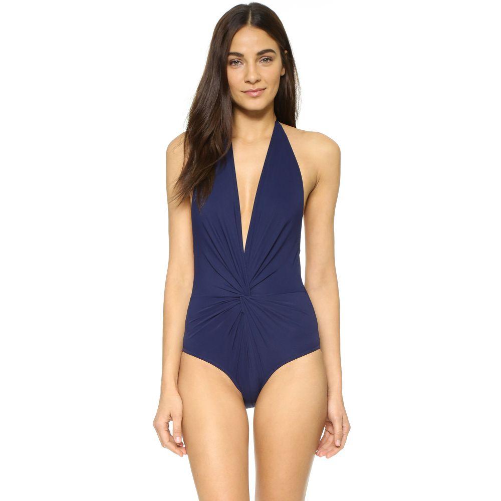 カーラコレット Karla Colletto レディース ワンピース 水着・ビーチウェア【Low Back Plunge Swimsuit】Navy