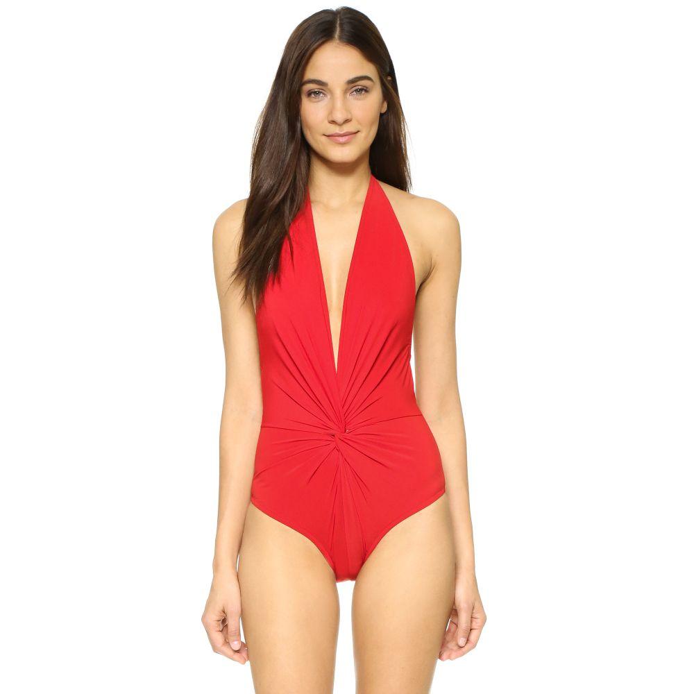 カーラコレット Karla Colletto レディース ワンピース 水着・ビーチウェア【Low Back Plunge Swimsuit】Cherry