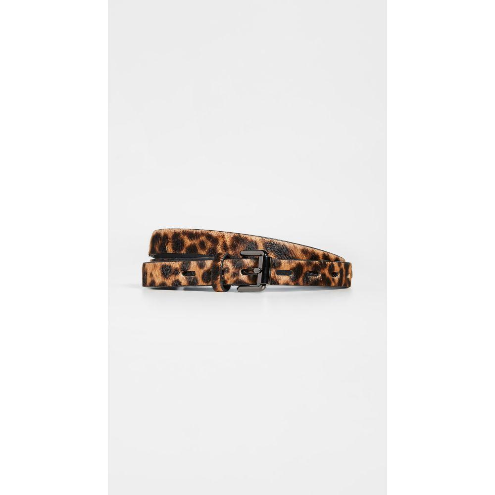 レベッカ ミンコフ Rebecca Minkoff レディース ベルト 【20MM Haircalf Belt】Leopard