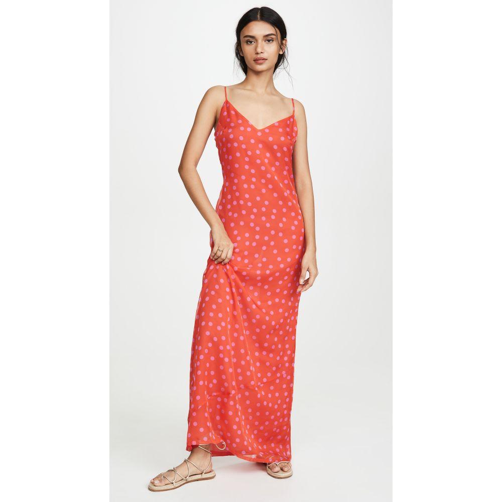 Eywasouls Malibu レディース ビーチウェア ワンピース・ドレス 水着・ビーチウェア【Sophia Dress】Pink Polka Dots Print
