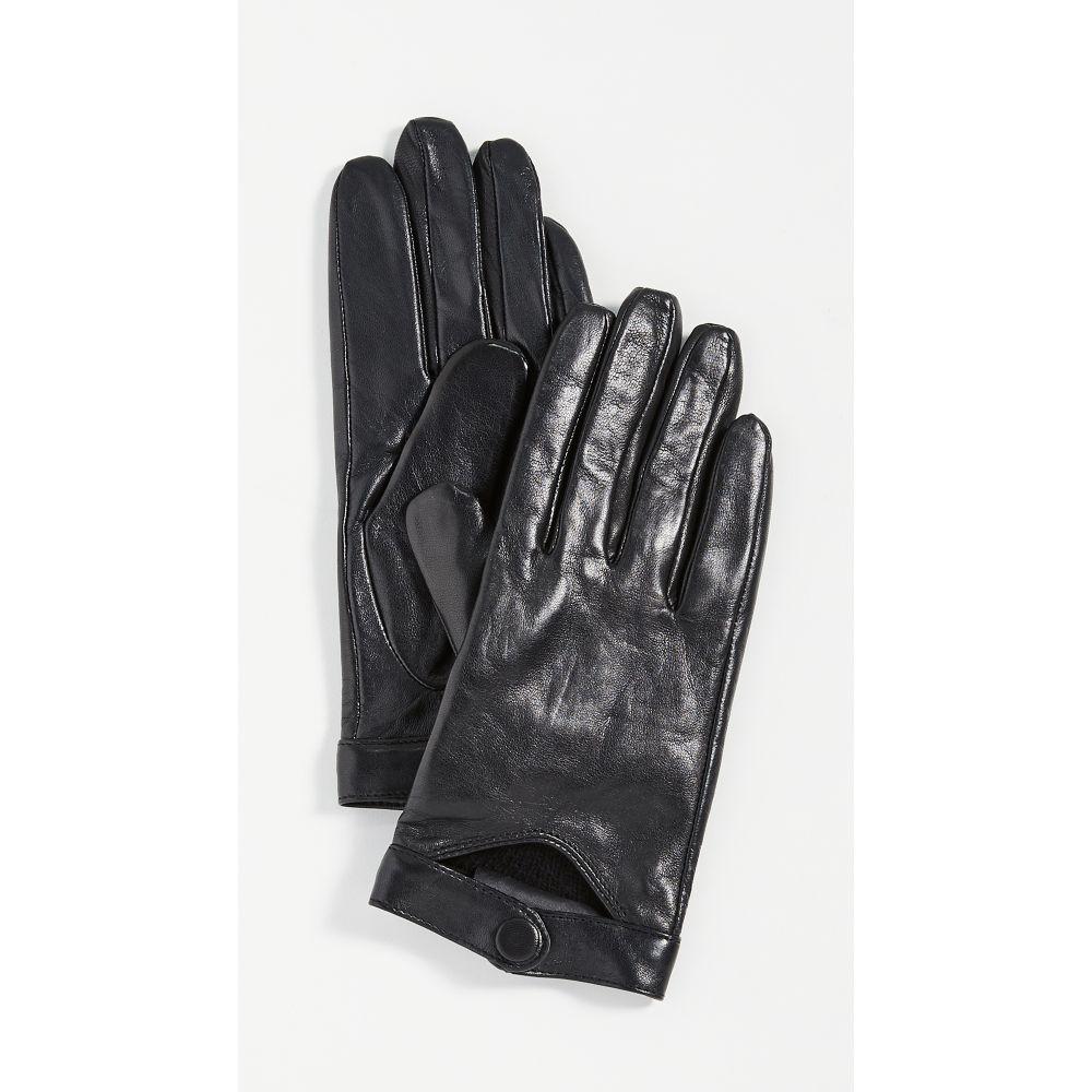 マッカージュ Mackage レディース 手袋・グローブ 【Leather Gloves With Snap At Wrist】Black