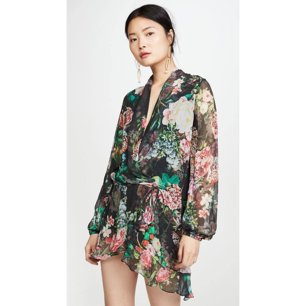 ロココ ROCOCO SAND レディース ビーチウェア ワンピース・ドレス 水着・ビーチウェア【Isa Printed Dress】Black
