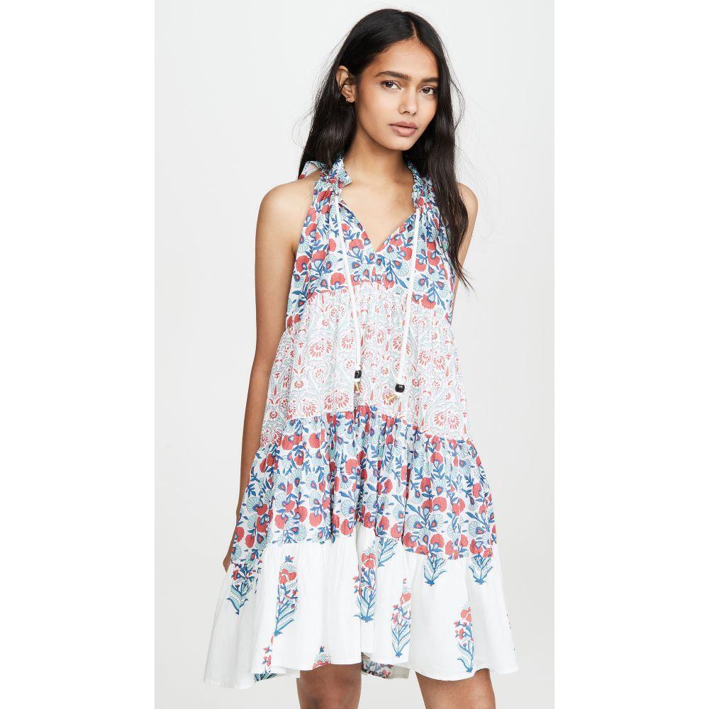Ro's ガーデン Ro's Garden レディース ビーチウェア ワンピース・ドレス 水着・ビーチウェア【Sofia Mini Ruffle Dress】Mixed Floral Turquoise