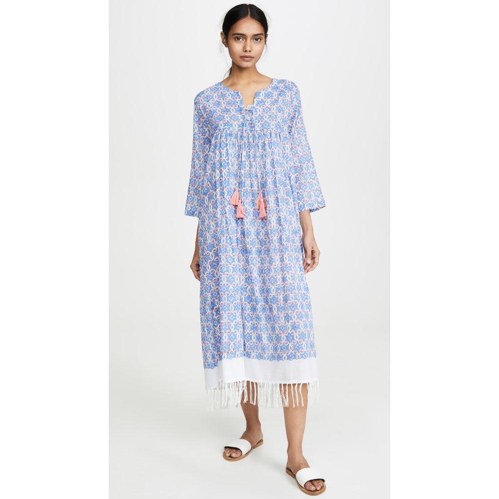 Ro's ガーデン Ro's Garden レディース ビーチウェア チュニックドレス 水着・ビーチウェア【Ofelia Seychelles Long Tunic Dress】Blue