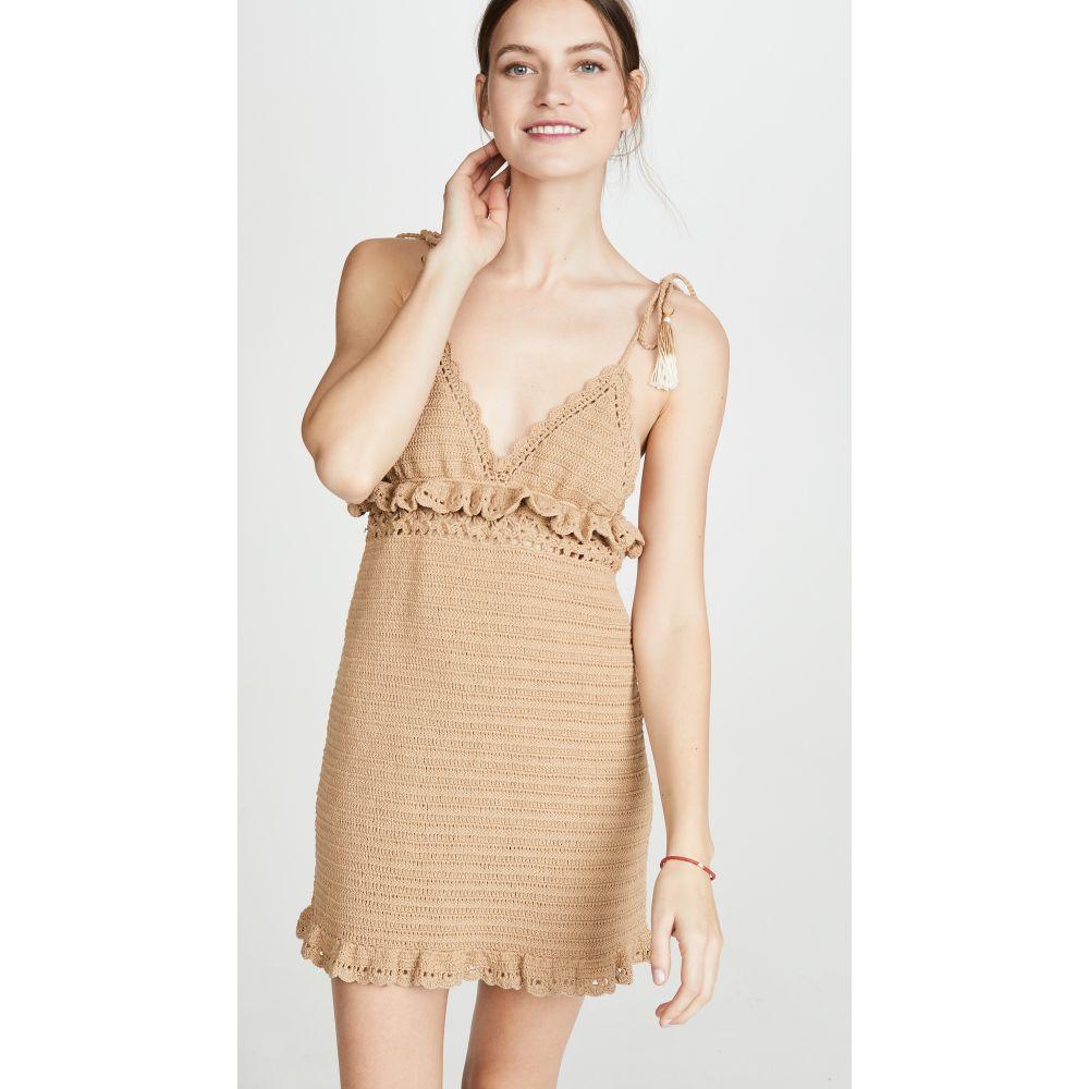 シー メイド ミー She Made Me レディース ビーチウェア ワンピース・ドレス 水着・ビーチウェア【Ila Mini Dress】Sand