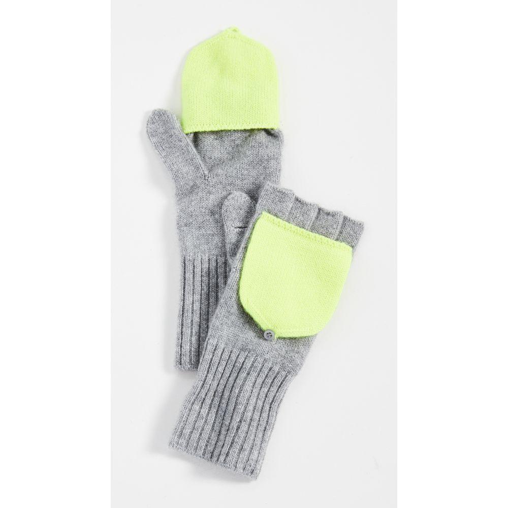 ホワイトウォーレン White + Warren レディース 手袋・グローブ 【Pop Top Cashmere Gloves】Grey Heather/Neon Pineapple