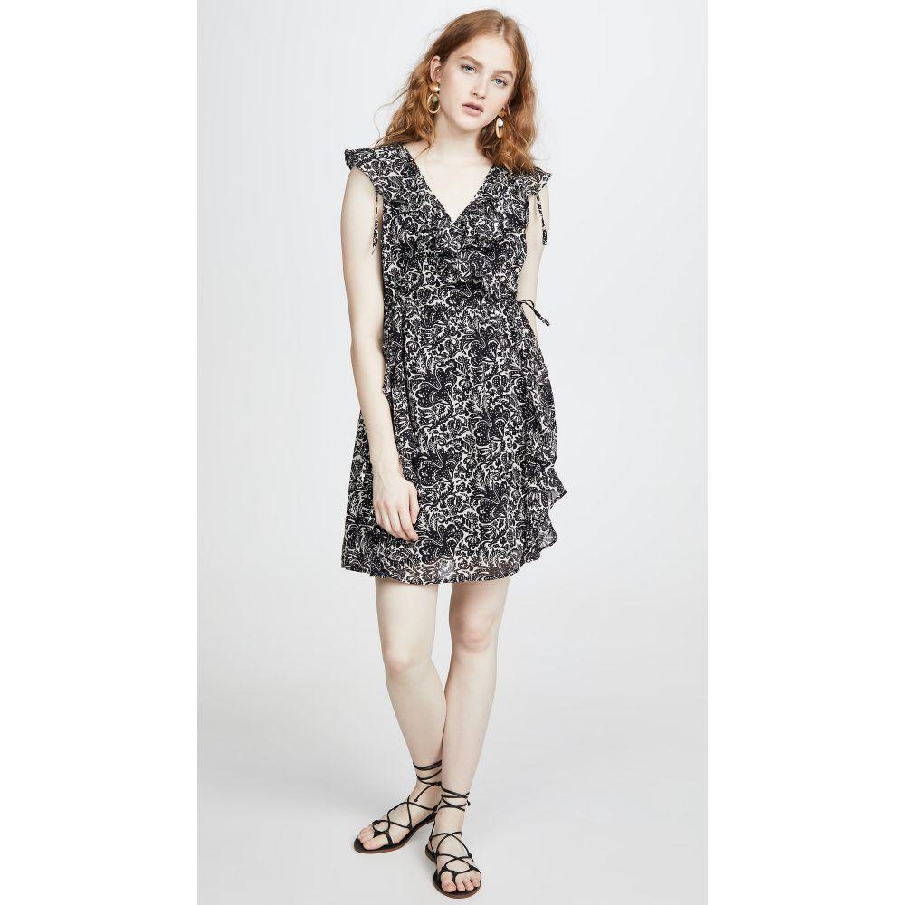 バンジャナン Banjanan レディース ワンピース ワンピース・ドレス【Silvie Dress】Decoupage Floral Black