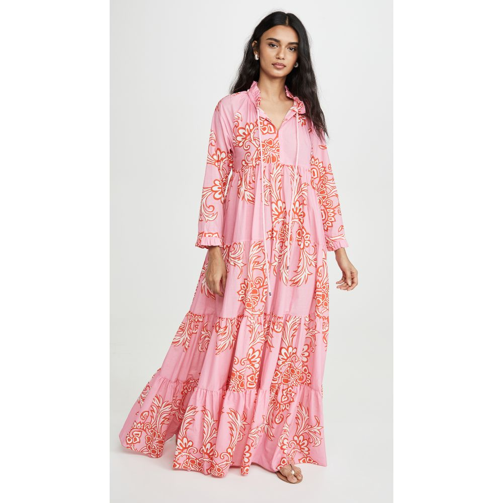 Eywasouls Malibu レディース ビーチウェア ワンピース・ドレス 水着・ビーチウェア【Cora Dress】Pink/Red Charm