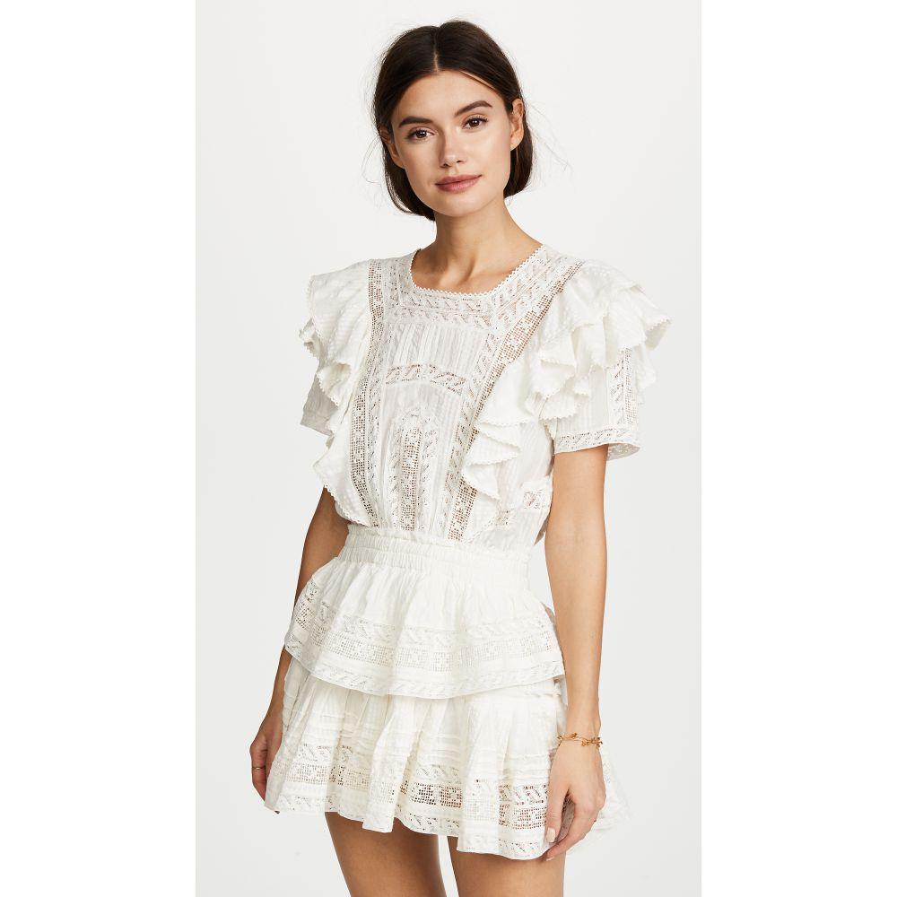 ラブシャックファンシー LOVESHACKFANCY レディース ビーチウェア ワンピース・ドレス 水着・ビーチウェア【Stella Dress】Antique White