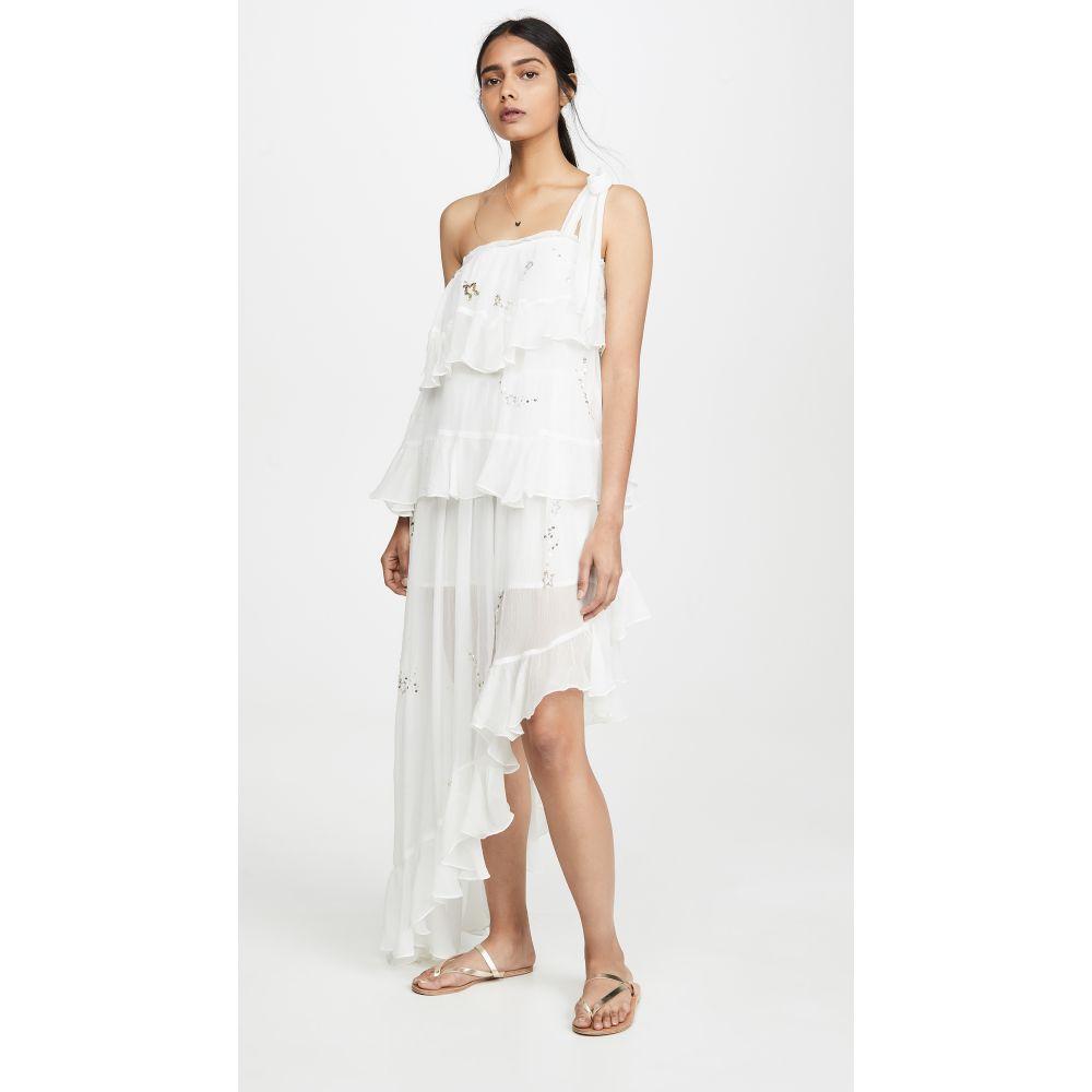 ロココ ROCOCO SAND レディース ワンピース ワンピース・ドレス【Star Light One Shoulder Dress】White