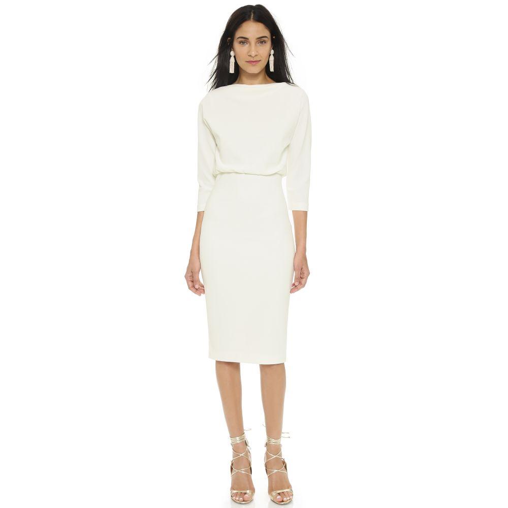 バッジェリー ミシュカ Badgley Mischka Collection レディース ワンピース ワンピース・ドレス【Long Sleeve Dress】Ivory