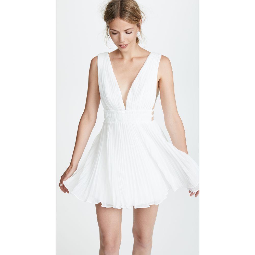フェイム アンド パートナー Fame and Partners レディース ワンピース ワンピース・ドレス【The Briella Dress】White