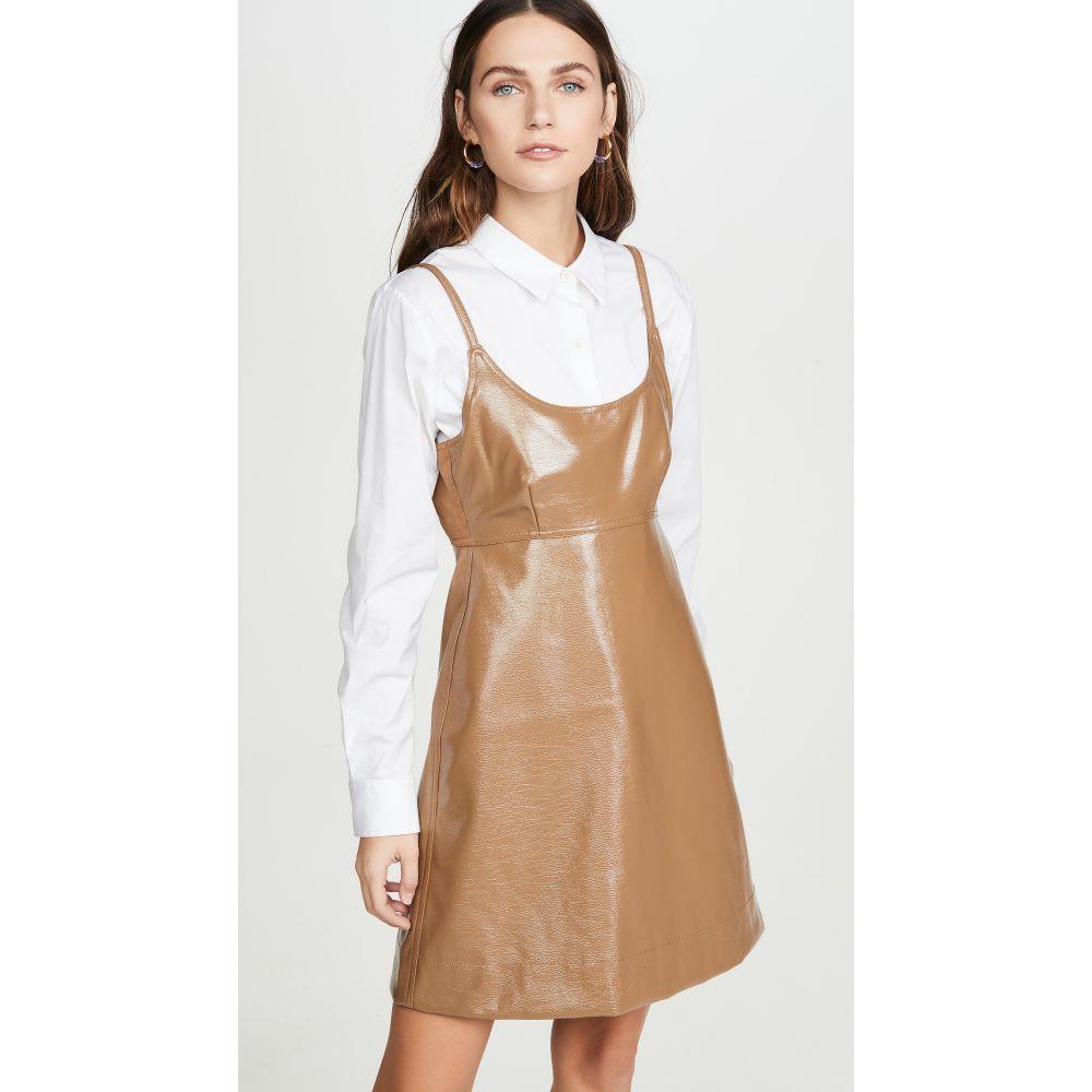 ガニー GANNI レディース ワンピース ワンピース・ドレス【Patent Faux Leather Mini Dress】Ermine