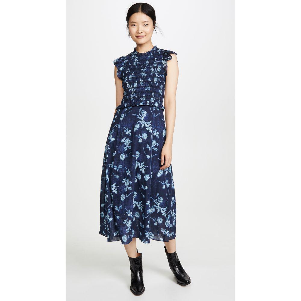 シー Sea レディース ワンピース ワンピース・ドレス【Monet Smocked Dress】Blue