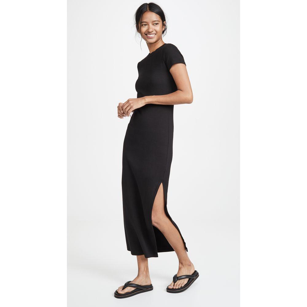 ステートサイド Stateside レディース ワンピース ワンピース・ドレス【Long Tee Dress】Black
