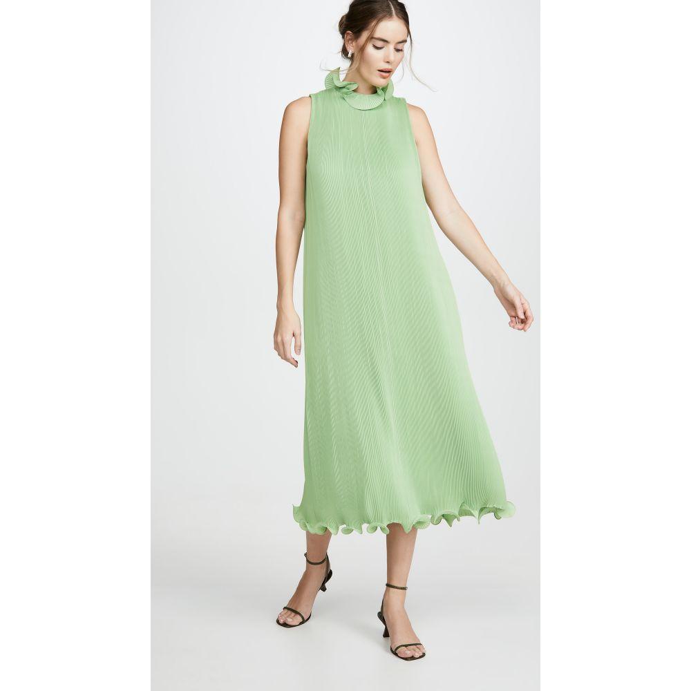 ティビ Tibi レディース ワンピース ノースリーブ ワンピース・ドレス【Sleeveless Pleated Dress】Mint