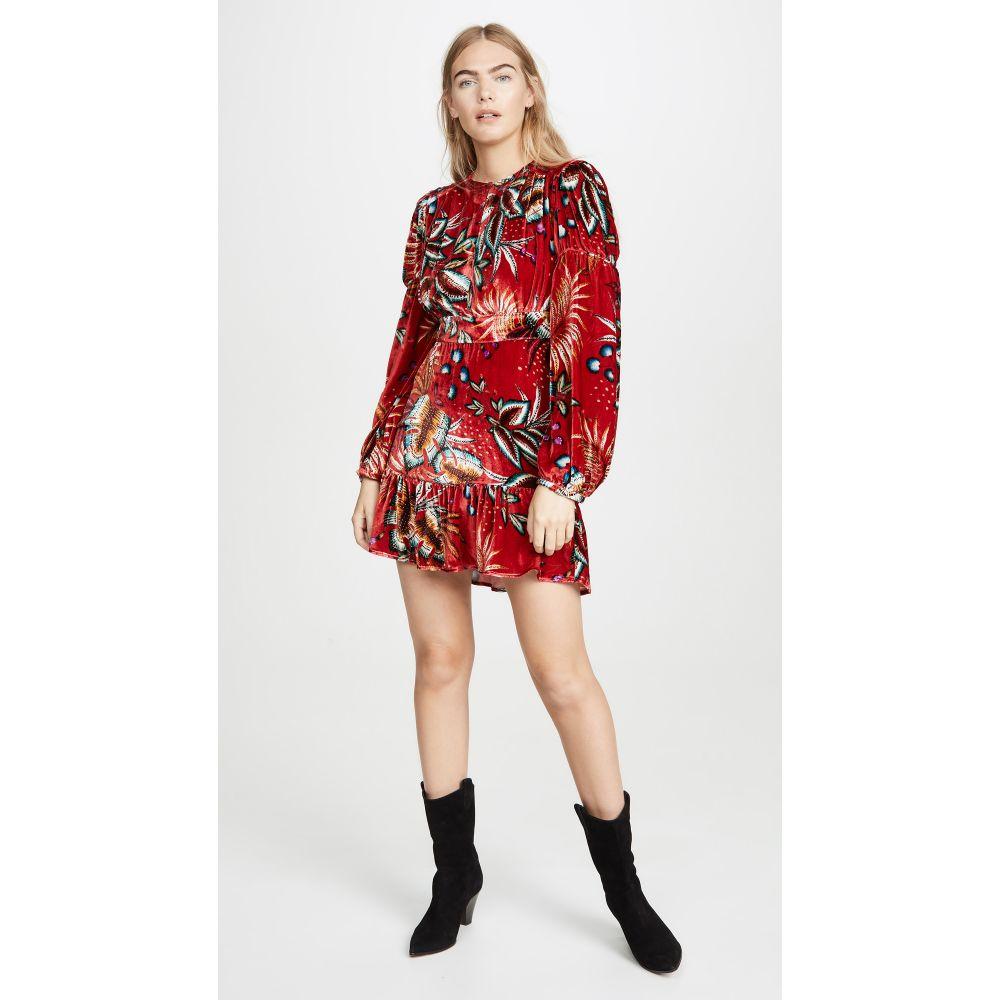 ファーム FARM Rio レディース ワンピース ワンピース・ドレス【Winter Leaf Velvet Dress】Red Multi