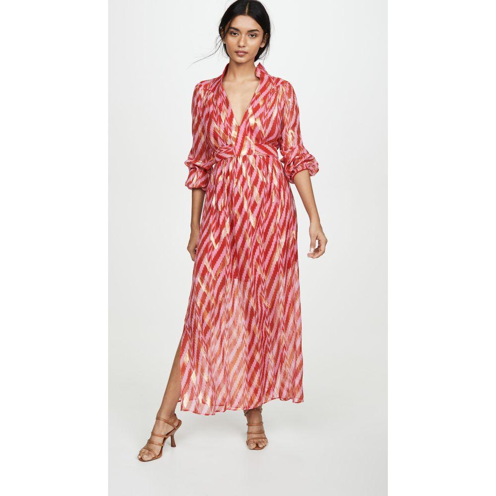 フィグ Figue レディース ワンピース ワンピース・ドレス【Starlight Dress】Diagnonal Ikat Red