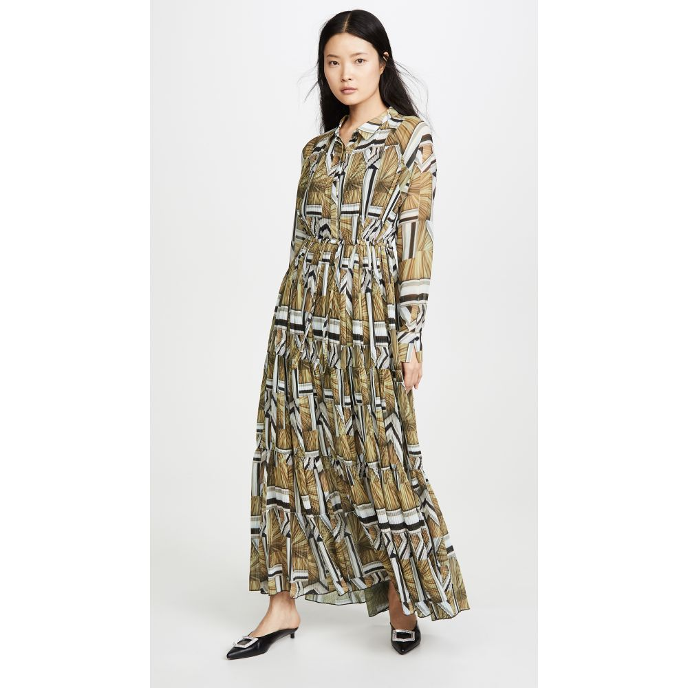 ホルスウィラー HOLZWEILER レディース ワンピース ワンピース・ドレス【Aria Dress】Ceiling Block Print